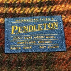 Pendleton wool throw blanket. Plaid